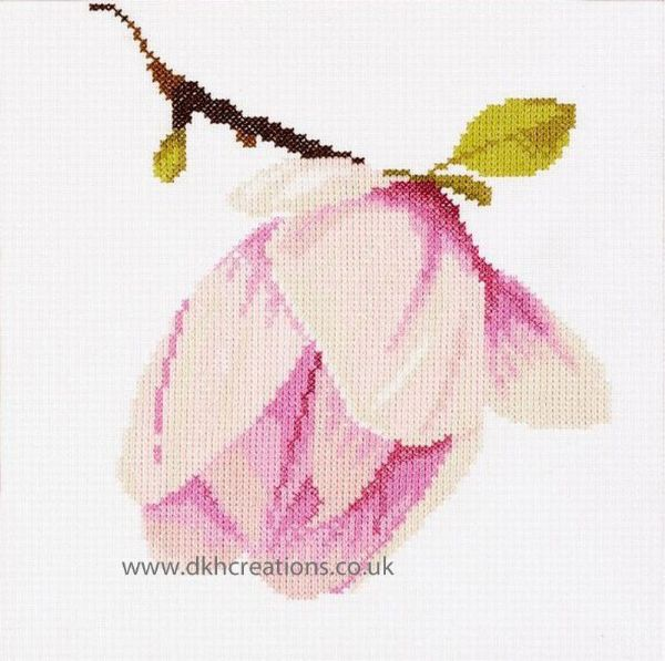 Magnolia Flower Bud Cross Stitch Kit